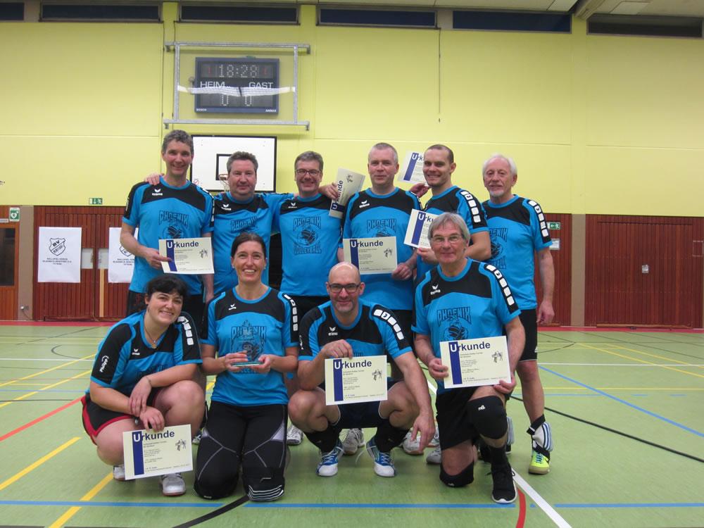 Platz 2 beim Hobby-Volleyball-Turnier